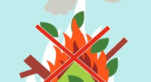 Brûlage de végétaux